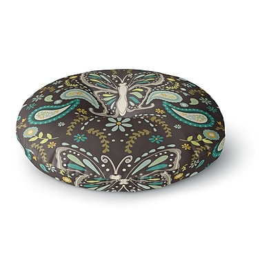 East Urban Home Suzie Tremel 'Butterfly Garden' Round Floor Pillow; 26'' x 26''