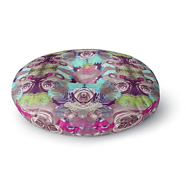 East Urban Home Vasare Nar 'Kaleidoscopic Boho' Round Floor Pillow; 26'' x 26''