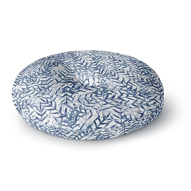East Urban Home Strawberringo 'Dark Blue' Round Floor Pillow; 23'' x 23''