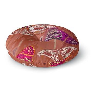 East Urban Home Vikki Salmela 'Butterflies Party' Round Floor Pillow; 26'' x 26''