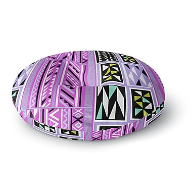 East Urban Home Vikki Salmela 'American Blanket Pattern II' Round Floor Pillow; 26'' x 26''