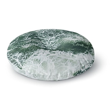 East Urban Home Suzanne Carter 'Oceans 2' Digital Round Floor Pillow; 23'' x 23''