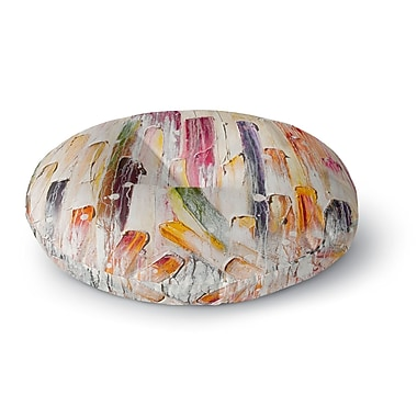 East Urban Home Steven Dix 'Candy Icing' Round Floor Pillow; 26'' x 26''
