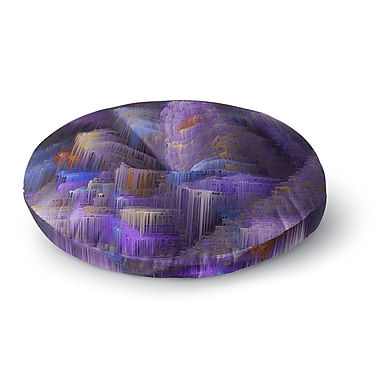 East Urban Home Michael Sussna 'Purple Mountain Majesty' Round Floor Pillow; 23'' x 23''