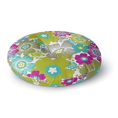 East Urban Home Nicole Ketchum 'Little Bloom' Round Floor Pillow; 23'' x 23''