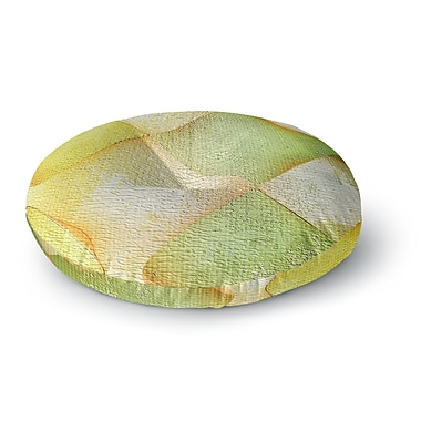 East Urban Home Mimulux Patricia No 'Citrus Grunge' Digital Round Floor Pillow; 26'' x 26''