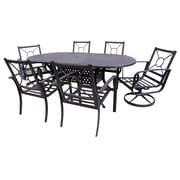 Red Barrel Studio Waynesburg Oval 7 Piece Dining Set