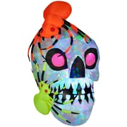 The Holiday Aisle Light Show Skull w/ Spiders - Kaleidoscope Halloween Decoration