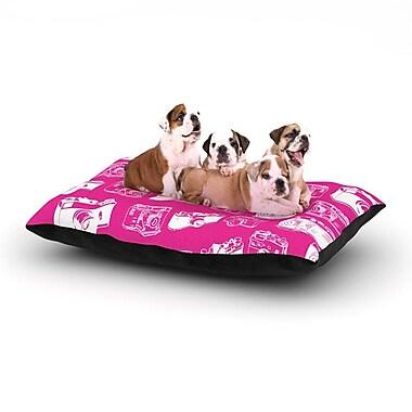 East Urban Home 'Camera' Dog Pillow w/ Fleece Cozy Top; Large (50'' W x 40'' D x 8'' H)