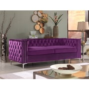 Rosdorf Park Marlon Chesterfield Sofa; Purple