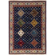 Bloomsbury Market Berkshire Hand-Knotted Navy Blue Area Rug