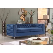Rosdorf Park Marlon Chesterfield Sofa; Navy