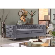 Rosdorf Park Marlon Chesterfield Sofa; Gray