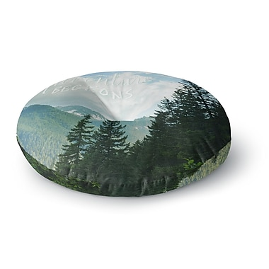 East Urban Home Robin Dickinson 'Adventure Beckons' Nature Landscape Round Floor Pillow; 26'' x 26''