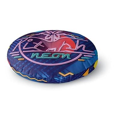 East Urban Home Roberlan 'Kitsch Neon' Round Floor Pillow; 26'' x 26''