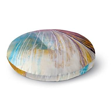 East Urban Home Steven Dix 'Sway' Round Floor Pillow; 23'' x 23''