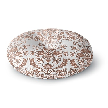 East Urban Home 'Baroque Rose Gold' Abstract Floral Round Floor Pillow; 23'' x 23''