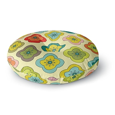 East Urban Home Nicole Ketchum 'Forest Bloom' Round Floor Pillow; 26'' x 26''