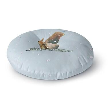 East Urban Home Monika Strigel 'Squirrel' Round Floor Pillow; 26'' x 26''