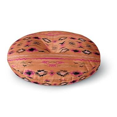 East Urban Home Nina May 'Navano' Tribal Round Floor Pillow; 23'' x 23''