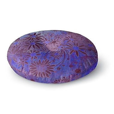 East Urban Home Marianna Tankelevich 'Purple Night' Round Floor Pillow; 23'' x 23''