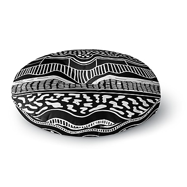 East Urban Home Vasare Nar 'Abiodun Tribal' Round Floor Pillow; 23'' x 23''