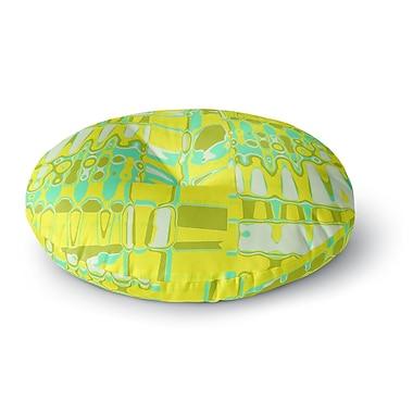 East Urban Home Vikki Salmela 'Changing Gears in Sunshine' Round Floor Pillow; 23'' x 23''
