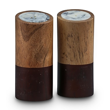 Thirstystone Global Trek Stained Wood and Resin Salt & Pepper Set