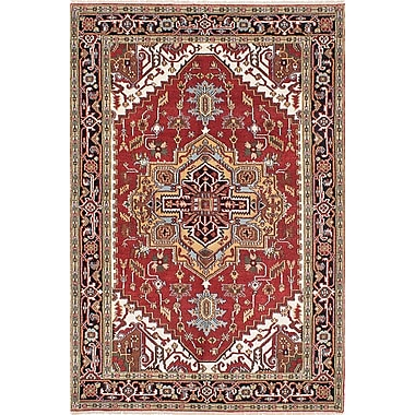 Bloomsbury Market Briggs Hand-Knotted Black/Copper Area Rug