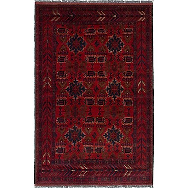 World Menagerie Bouldercombe Hand-Knotted Red Area Rug