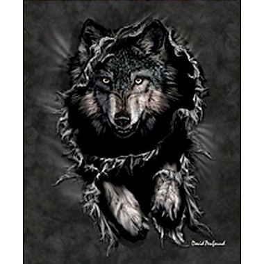 East Urban Home Penfound Wolf Mink Blanket