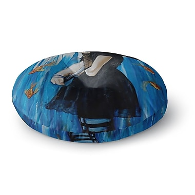 East Urban Home Lydia Martin 'Sink or Swim' Round Floor Pillow; 23'' x 23''
