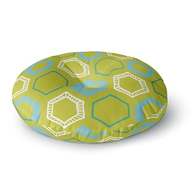 East Urban Home Laurie Baars 'Hexy Lime' Round Floor Pillow; 23'' x 23''