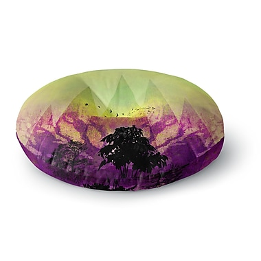 East Urban Home Pia Schneider 'Trees Under Magic Mountain' Nature Round Floor Pillow; 26'' x 26''