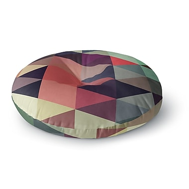 East Urban Home Juan Paolo 'Labyrinth' Geometric Round Floor Pillow; 23'' x 23''