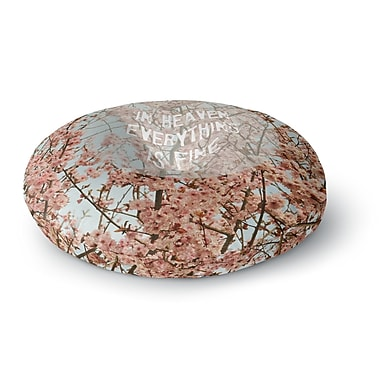 East Urban Home Robin Dickinson 'In Heaven' Cherry Blossom Round Floor Pillow; 23'' x 23''