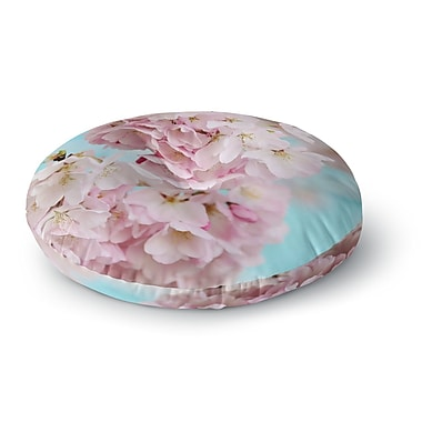 East Urban Home Sylvia Cook 'A Pastel Spring' Floral Round Floor Pillow; 23'' x 23''