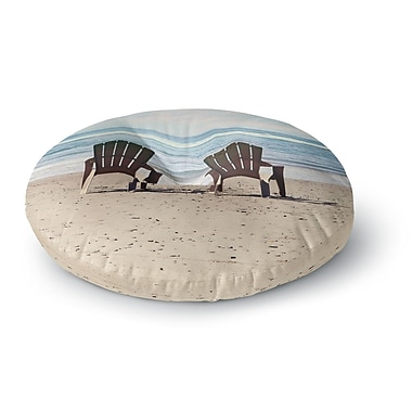 East Urban Home Sylvia Cook 'A Great View' Travel Round Floor Pillow; 23'' x 23''