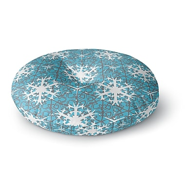 East Urban Home Miranda Mol 'Precious Flakes' Round Floor Pillow; 23'' x 23''