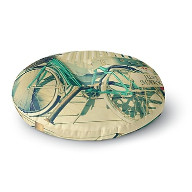 East Urban Home Robin Dickinson 'Just Married' Round Floor Pillow; 23'' x 23''