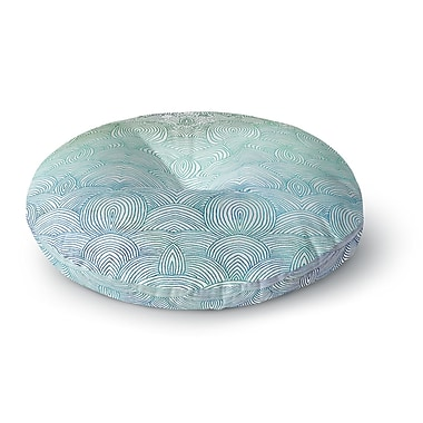 East Urban Home Pom Graphic Design 'Clouds in the Sky' Round Floor Pillow; 26'' x 26''