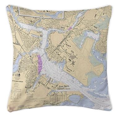 Longshore Tides Ellisburg Boston MA Throw Pillow