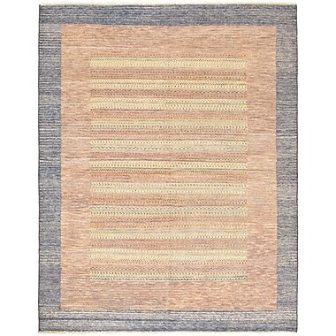 Red Barrel Studio Maplewood Hand-Knotted Brown Area Rug