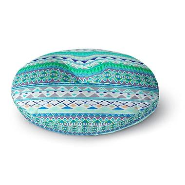 East Urban Home Nika Martinez 'Emerald Chenoa' Round Floor Pillow; 23'' x 23''