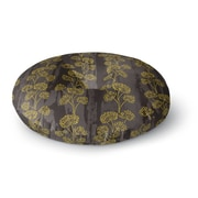 East Urban Home Neelam Kaur 'Textured Floral Elegance' Round Floor Pillow; 26'' x 26''