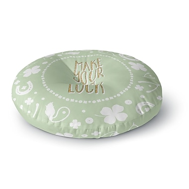 East Urban Home 'Own Luck' Round Floor Pillow; 26'' x 26''