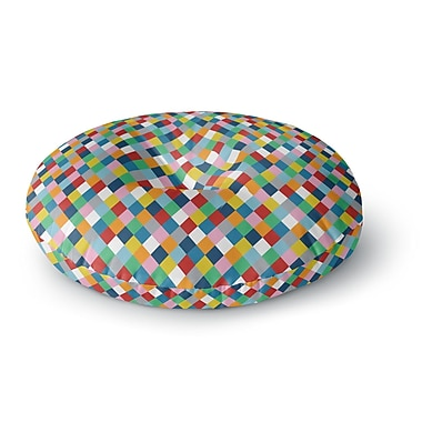 East Urban Home Project M 'Harlequin' Round Floor Pillow; 26'' x 26''