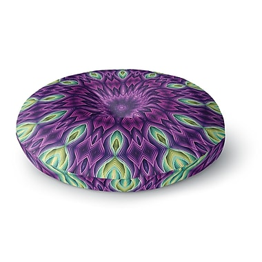 East Urban Home Sylvia Cook 'Zapped - Purple' Round Floor Pillow; 26'' x 26''