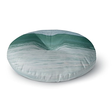 East Urban Home Nick Nareshni 'The Lone Wave' Round Floor Pillow; 23'' x 23''