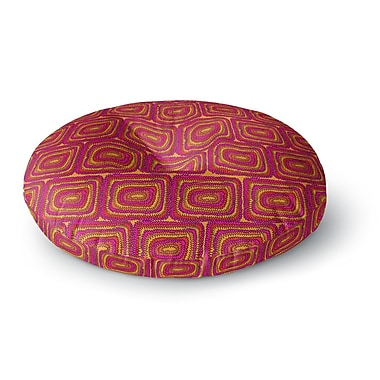 East Urban Home Nandita Singh 'Bright Squares' Round Floor Pillow; 23'' x 23''